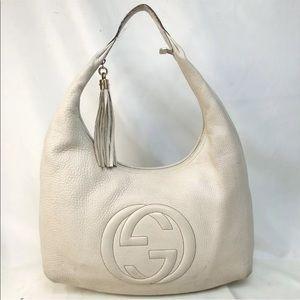 Gucci GG large Hobo Vanilla lambskin
